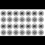 Sticker-Bogen, auch mit gleichen Motiven möglich