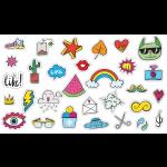 Sticker-Bogen, verschiedene Motive möglich