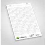 Flipchart-Block mit Standard-Lochung