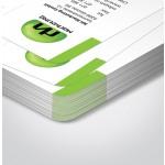 Briefpapier mit abgerundeten Ecken