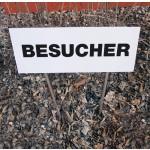 Parkplatz-Tafel mit Rasenständer für Montage in weiche Böden