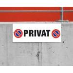 Parkplatz-Tafel für Wand-Montage (mit Löchern oder mit Klebeband auf der Rückseite)